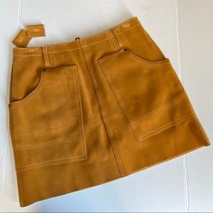 Coach suede mini skirt